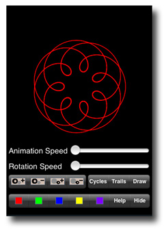 Spirals Screenshot with Control Panel