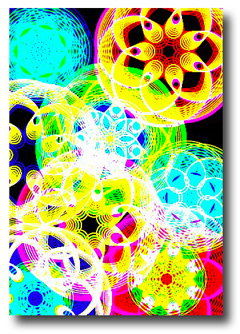 Spirals Screenshot with Colors and Trails